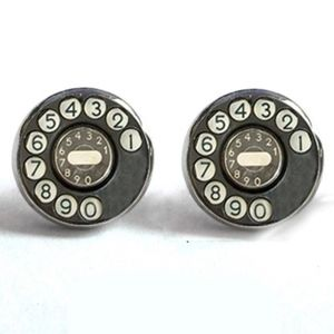Jewelry - NEW Silver Roung Gray Vintage Telehone Earrings